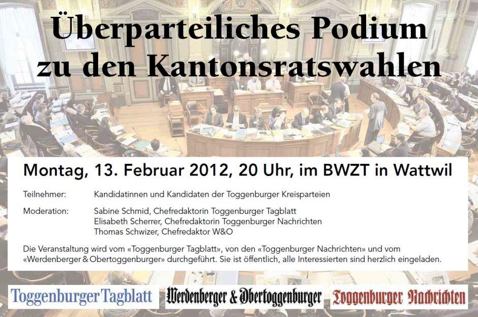 Kantonsratspodium 13.02.2012