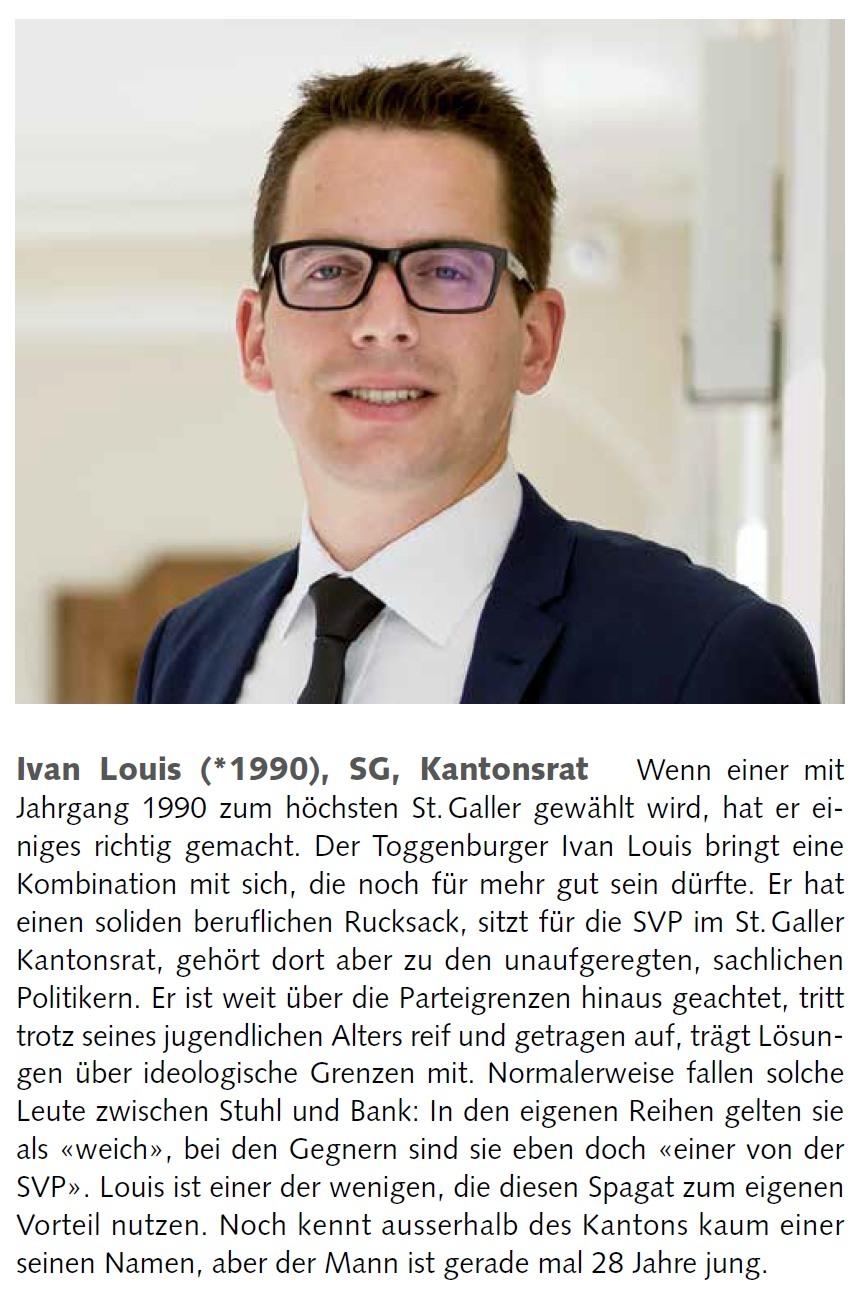 «who's who der Ostschweiz» (Dienstag, 18.12.2018)