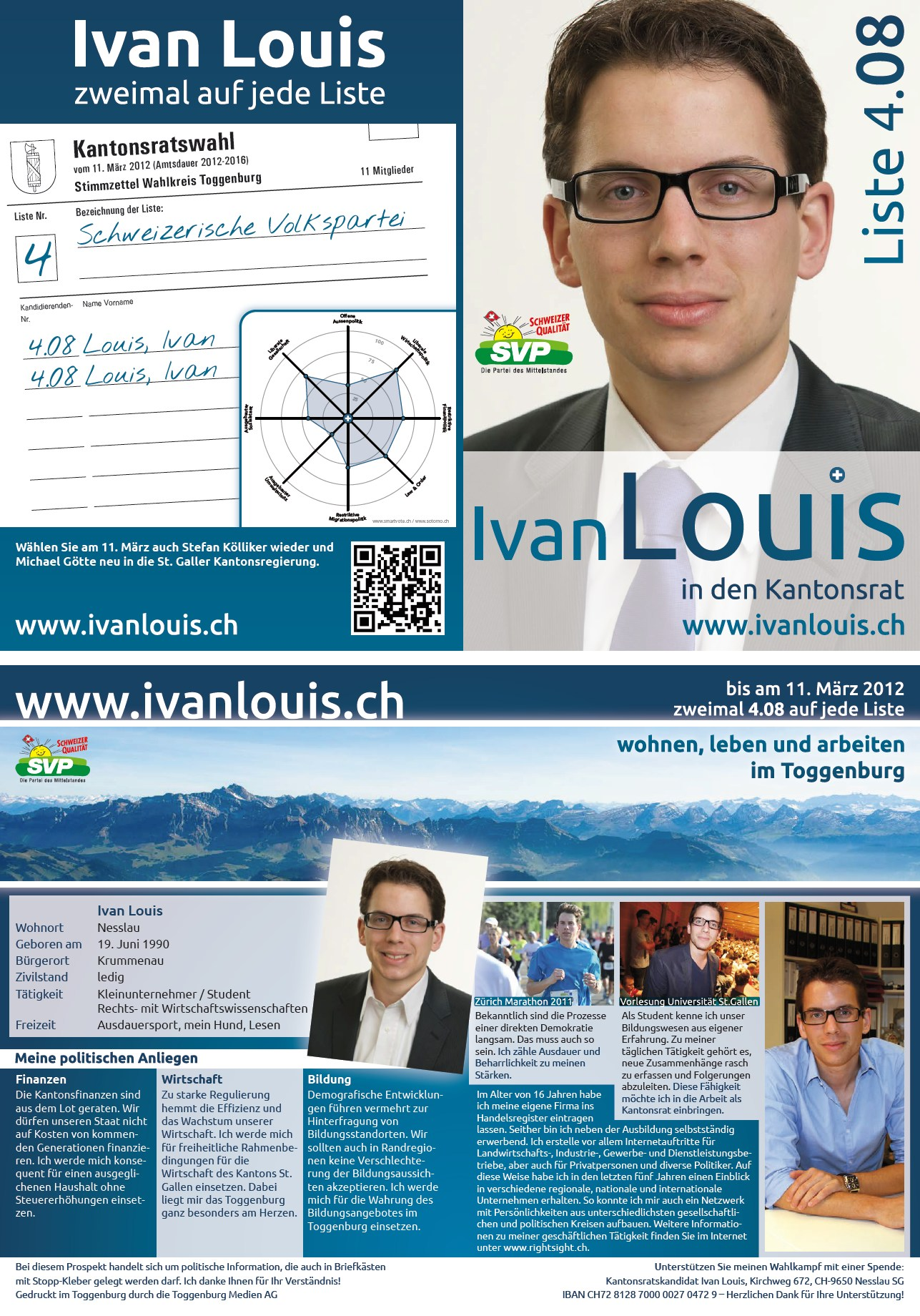 Wahlflyer Kantonsratswahlen 2012 (Sonntag, 26.02.2012)