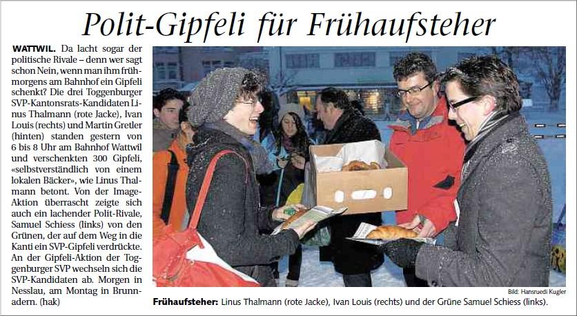 Polit-Gipfeli für Frühaufsteher (Donnerstag, 16.02.2012)